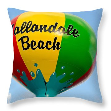Hallendale Beach Water Tower Throw Pillow