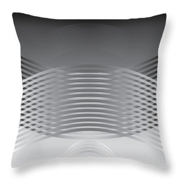 Hallenwave Throw Pillow