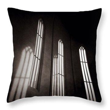 Hallgrimskirkja Windows Throw Pillow