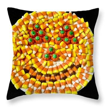 Halloween Candy Throw Pillow