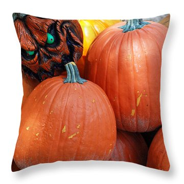 Halloween Goblin Throw Pillow