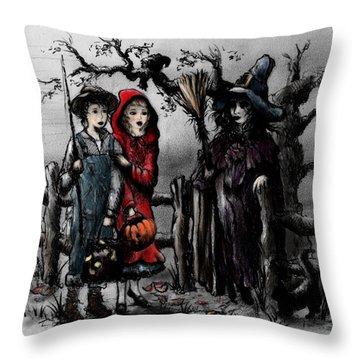 Halloween Night Throw Pillow by Rachel Christine Nowicki
