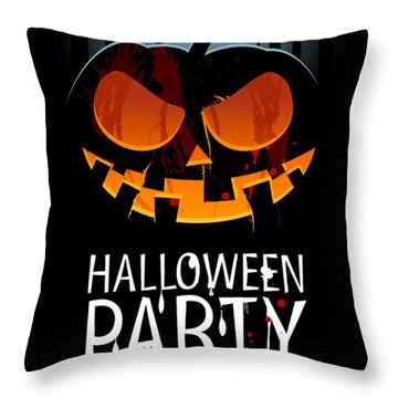 Throw Pillow featuring the painting Halloween Party by Gianfranco Weiss