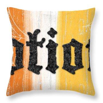 Halloween Potions Sign Throw Pillow