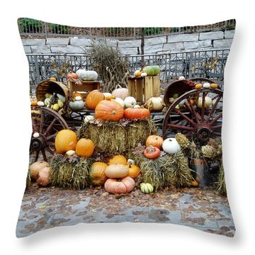 Halloween Pumpkins Throw Pillow