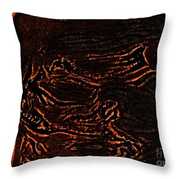 Halloween Specter Black By Jrr Throw Pillow by First Star Art