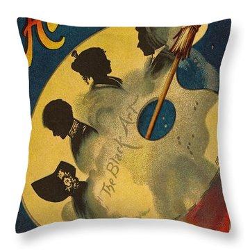 Halloween The Black Art Throw Pillow by Ellen Hattie Clapsaddle