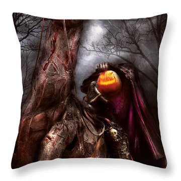 Halloween - The Headless Horseman Throw Pillow
