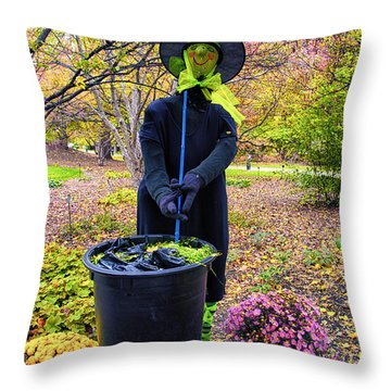 Halloween Witch Throw Pillow by Thomas Woolworth