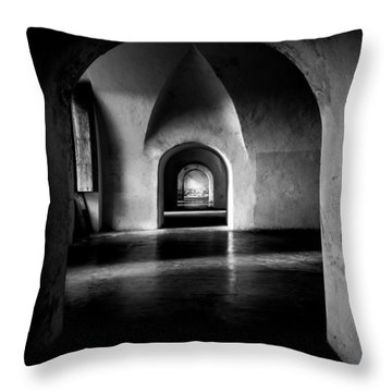 Halls Throw Pillow