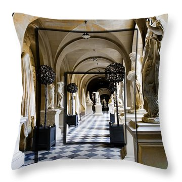 Halls Of Versailles Paris Throw Pillow