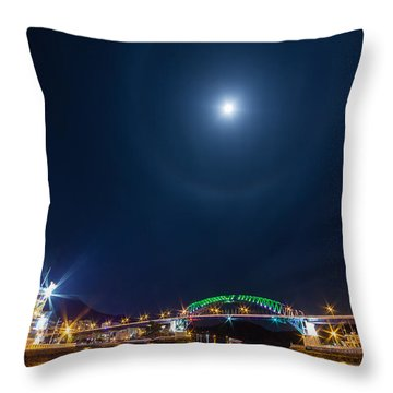 Halo Above The Bridge Throw Pillow