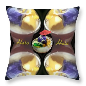 Halo Halo Desert Throw Pillow