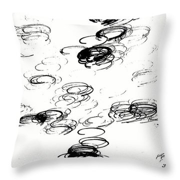Halo Throw Pillow by Jacqueline McReynolds