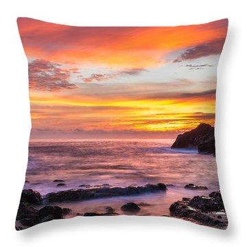 Halona Cove Sunrise 4 Throw Pillow