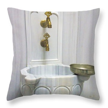 Hamam Marble Sink In Istanbul Throw Pillow