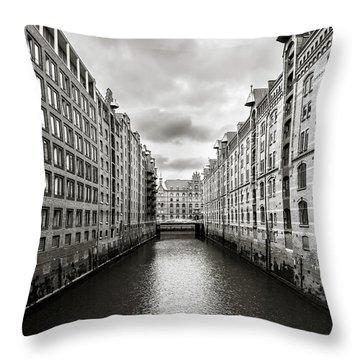 Hamburg Speicherstadt Throw Pillow