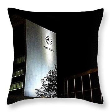 Hamilton City Hall Throw Pillow by Danielle  Parent