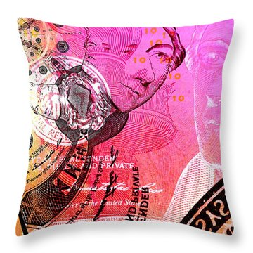 Hamilton Face To Face Throw Pillow by Chad and Stacey Hall