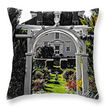 Hamilton House Gardens Throw Pillow