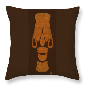 Hamite Female Throw Pillow by Jerry Ruffin