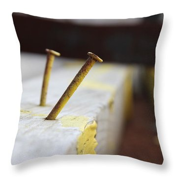 Hammer And Nail Throw Pillow