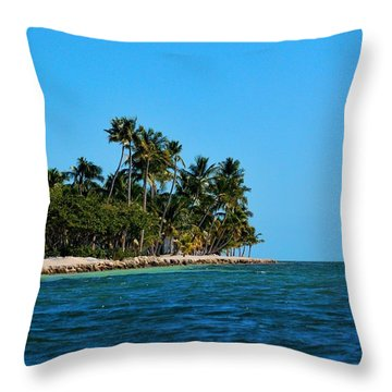 Curry Hammock State Park Throw Pillow by Pamela Blizzard