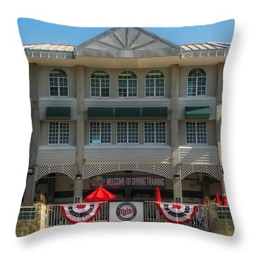 Hammond Stadium Throw Pillow by Tom Gort