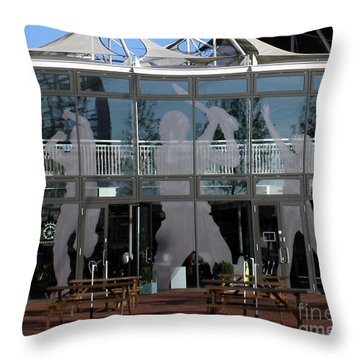 Hampshire County Cricket Glass Pavilion Throw Pillow by Terri Waters