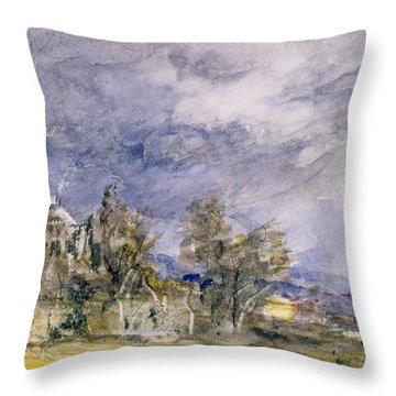 Hampstead Heath From Near Well Walk Throw Pillow by John Constable