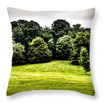 Hampstead Heath Greens Throw Pillow