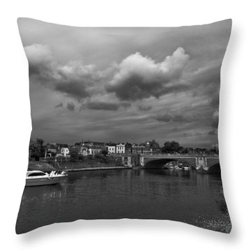 Hampton Bridge Throw Pillow by Maj Seda