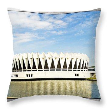 Hampton Coliseum Throw Pillow by Walter Herrit