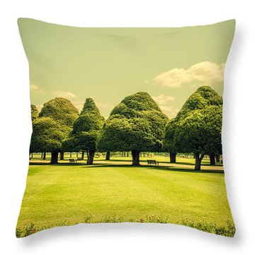 Hampton Court Palace Gardens Summer Colours Throw Pillow