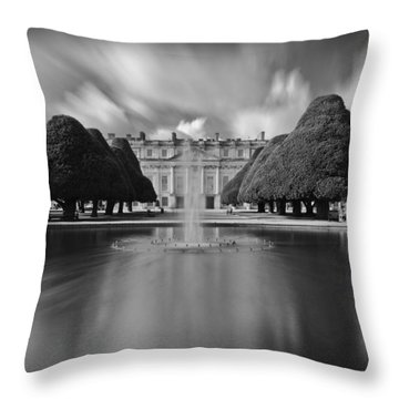Hampton Court Palace Throw Pillow by Maj Seda