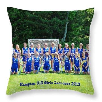 Hampton U15 Girls 2013 Throw Pillow