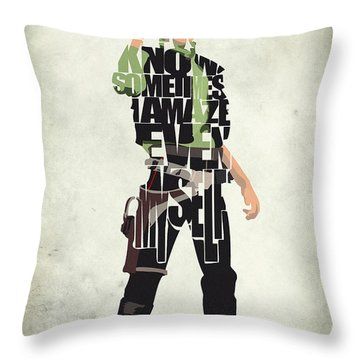 Han Solo Vol 2 - Star Wars Throw Pillow by Ayse Deniz