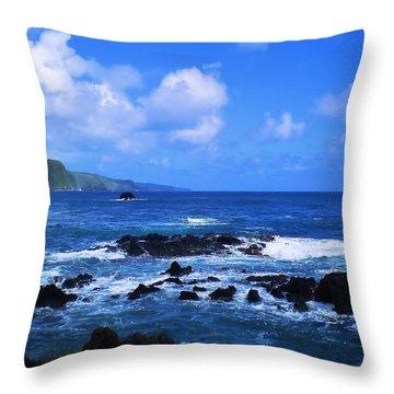 Hana Bay Happiness Throw Pillow