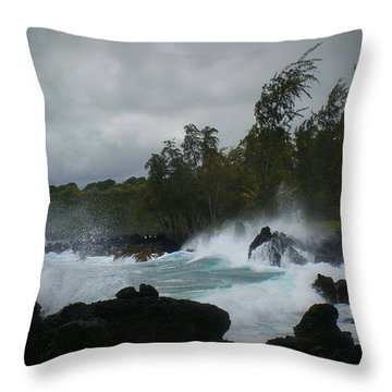 Hana Bay Summer Storm Throw Pillow