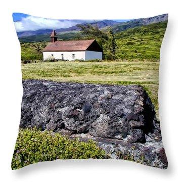 Throw Pillow featuring the photograph Hana Church 3 by Dawn Eshelman