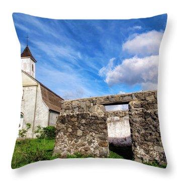 Throw Pillow featuring the photograph Hana Church 8 by Dawn Eshelman