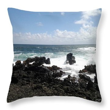 Throw Pillow featuring the photograph Hana Surf by Fred Wilson