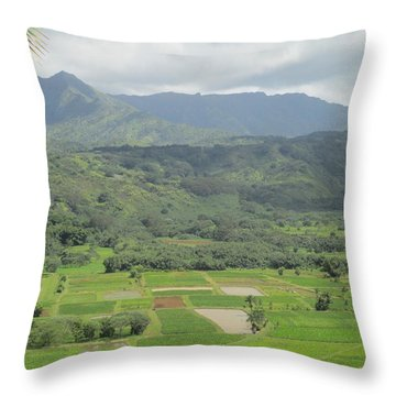 Throw Pillow featuring the photograph Hanalei by Alohi Fujimoto