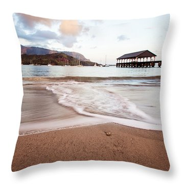 Hanalei Dawn - Kauai, Hawaii Throw Pillow