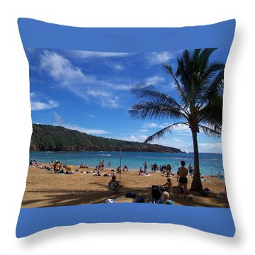 Hanauma Beach  Throw Pillow