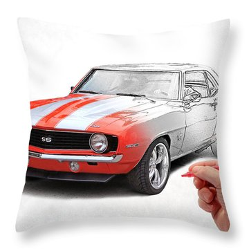 Hand Job Throw Pillow by Christopher McKenzie