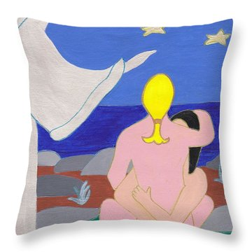 Hand Of An Angle Throw Pillow by Barbara St Jean
