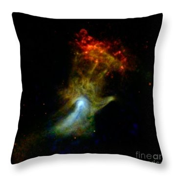 Hand Of God Pulsar Wind Nebula Throw Pillow by Science Source