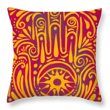 Hand Of Passion And Magic  Throw Pillow