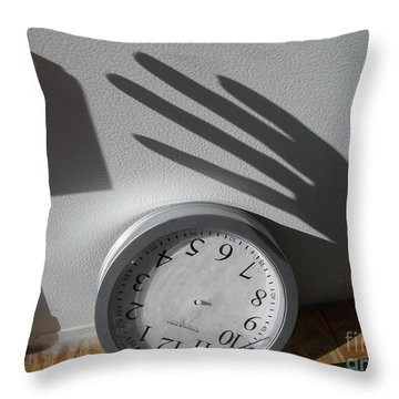 Throw Pillow featuring the photograph Hand Of Time by Lyric Lucas